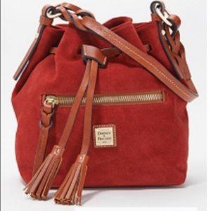Dooney &  Bourke Suede Logan Bucket Bag w/Tassels